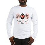 Peace Love Sing Long Sleeve T-Shirt