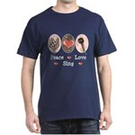 Peace Love Sing Dark T-Shirt