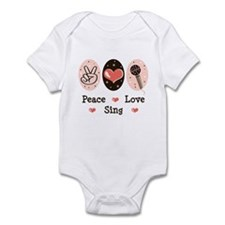 Peace Love Sing Infant Bodysuit