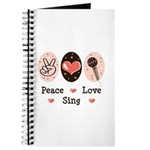 Peace Love Sing Journal
