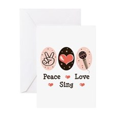 Peace Love Sing Greeting Card