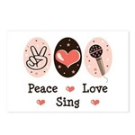 Peace Love Sing Postcards (Package of 8)