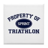 Property of Sprint Triathlon Tile Coaster