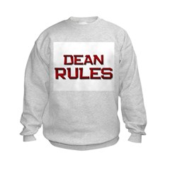 dean rules Kids Sweatshirt