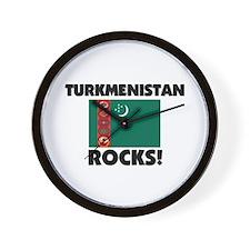 Turkmenistan Rocks Wall Clock