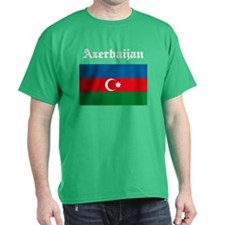 Azerbaijan Flag Black T-Shirt