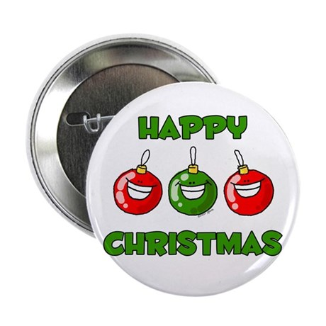 Happy Merry Christmas Button