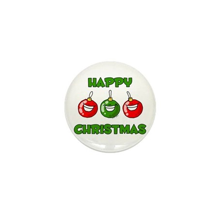 Happy Merry Christmas Mini Button