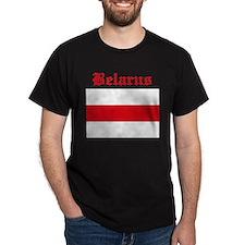Belarus Flag Black T-Shirt