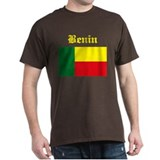 Benin Flag Black T-Shirt