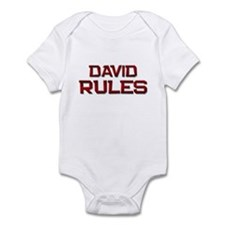 david rules Infant Bodysuit