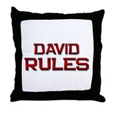 david rules Throw Pillow