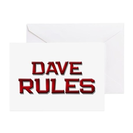 dave rules Greeting Cards (Pk of 10)