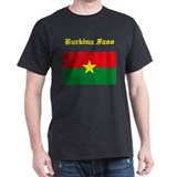 Burkina Faso Flag Black T-Shirt