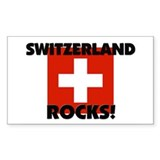 Switzerland Rocks Rectangle Decal