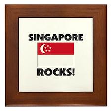 Singapore Rocks Framed Tile