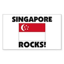 Singapore Rocks Rectangle Decal