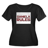 daniela rules Women's Plus Size Scoop Neck Dark T-