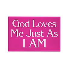 God Loves Me Just as I AM Magnet (100 pack)