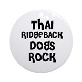 THAI RIDGEBACK DOGS ROCK Ornament (Round)