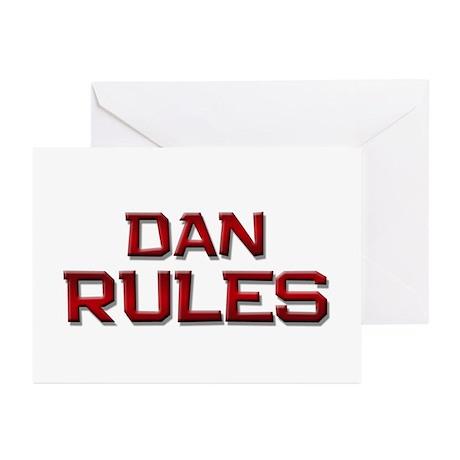 dan rules Greeting Cards (Pk of 10)