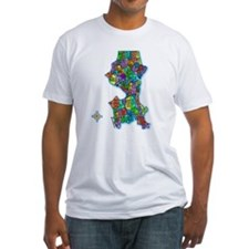 Brilliant Colors Map of Seattle Shirt