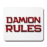 damion rules Mousepad