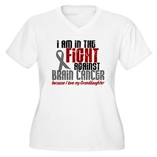 In The Fight Granddaughter Brain Cancer T-Shirt