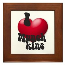 """I Love Munchkins!"" Framed Tile"