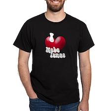 """""""I Love Nebelungs!"""" Black T-Shirt"""