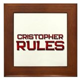 cristopher rules Framed Tile