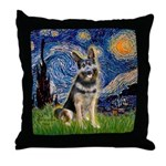 Starry / German Shepherd 10 Throw Pillow