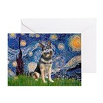Starry / German Shepherd 10 Greeting Card