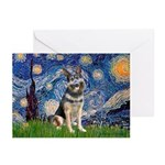 Starry / German Shepherd 10 Greeting Cards (Pk of