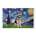 Starry / German Shepherd 10 Sticker (Rectangle)
