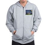 Starry / German Shepherd 10 Zip Hoodie