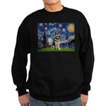 Starry / German Shepherd 10 Sweatshirt (dark)