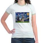 Starry / German Shepherd 10 Jr. Ringer T-Shirt