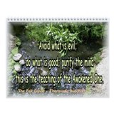 Buddhist and Zen Meditation Wall Calendar