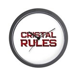 cristal rules Wall Clock