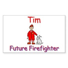 Tim - Future Firefighter Rectangle Decal