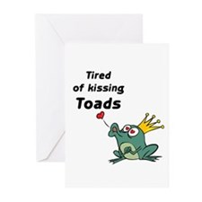 Funny Frog prince Greeting Cards (Pk of 10)