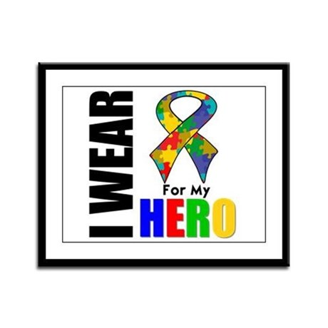 Autism Hero Framed Panel Print