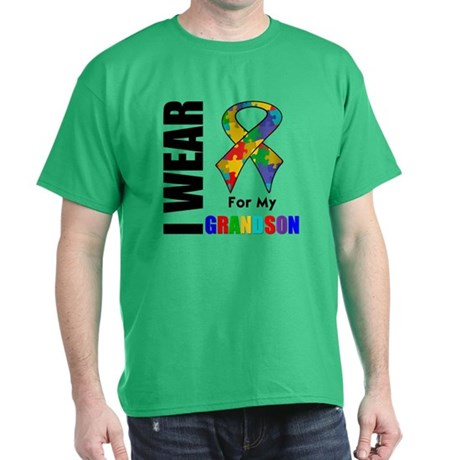 Autism Grandson Dark T-Shirt
