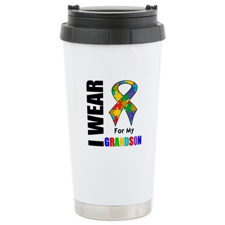 Autism Grandson Ceramic Travel Mug