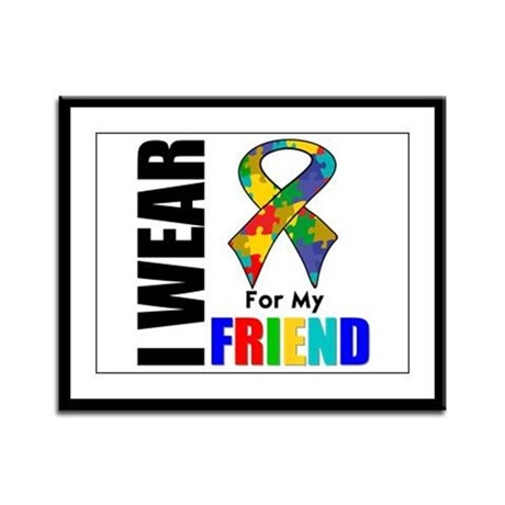 Autism Friend Framed Panel Print