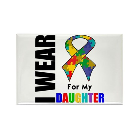 Autism Daughter Rectangle Magnet