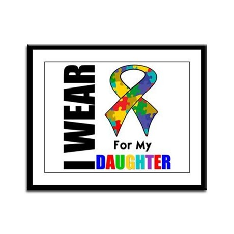 Autism Daughter Framed Panel Print