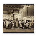 Women Against Wilson Tile Coaster