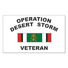 Kuwait Veteran 2 Rectangle Decal